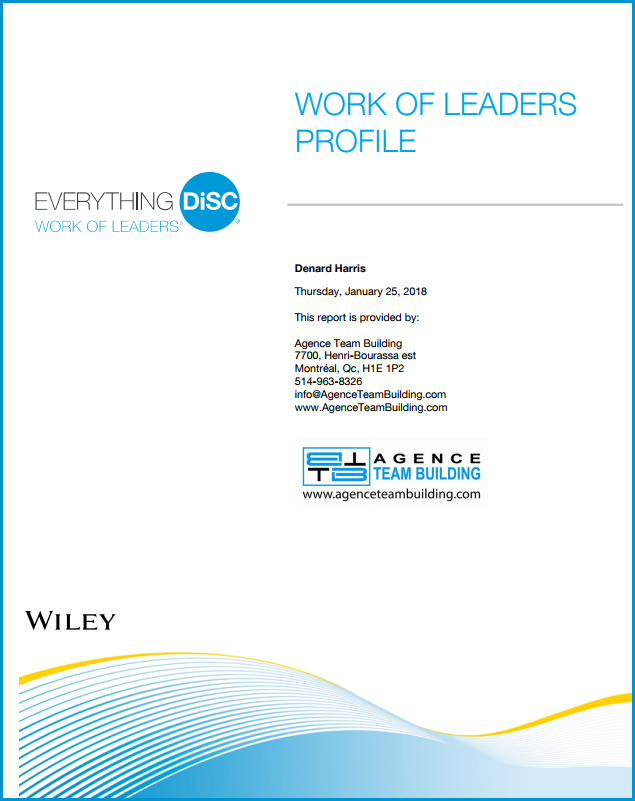 DISC Personality Assessment  Work of Leaders